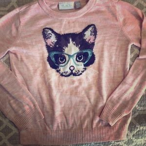 Girls Kitty Sweater
